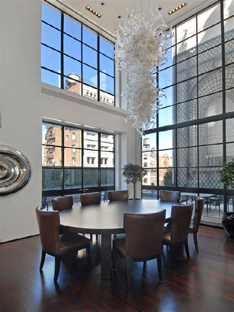 luxurious nyc penthouse apartment  astounding space