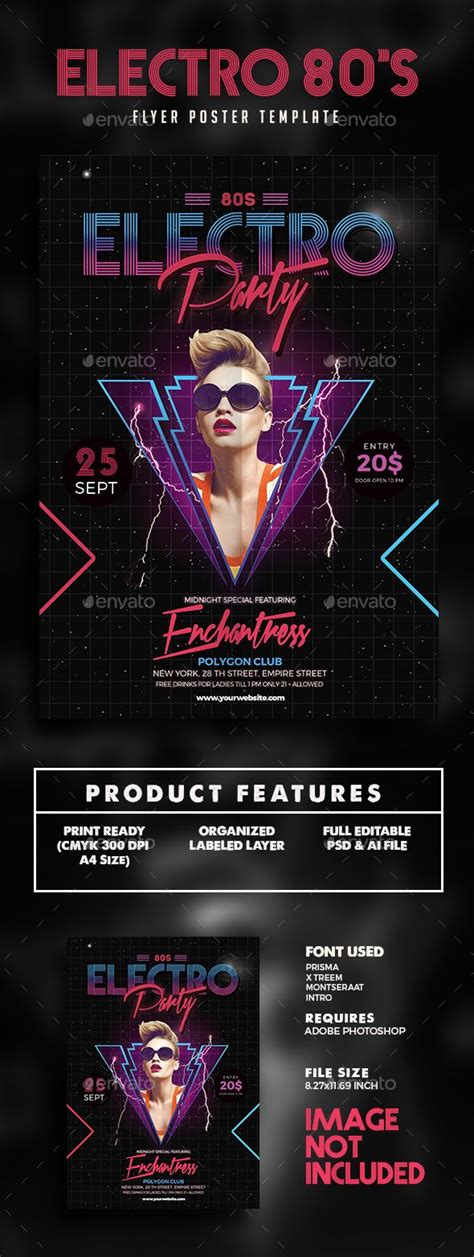 Download Graphicriver Electro Dj Party Flyer Template 6502526 by 80s Electro Music Party Flyer Template Psd Download Here