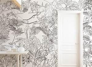 Papier Peint Rayé Noir Et Blanc : papier peint original d cor mural en dition limit e cr ation design ~ Preciouscoupons.com Idées de Décoration