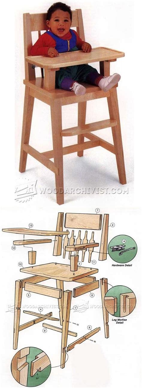 high chair plans childrens furniture plans  projects
