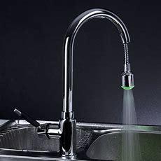 Chrome Led Pull Out Kitchen Sink Faucet L0352wholesale