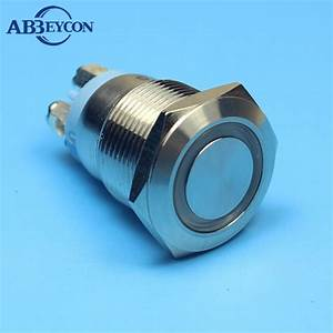 Abbeycon Screw Wiring Terminal Metal Push Button Switch