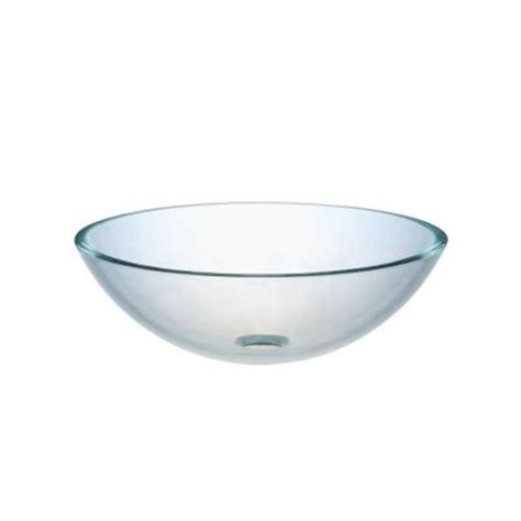 Vessel Sinks Home Depot by Hembry Creek Tempered Glass Vessel Sink With Drain In