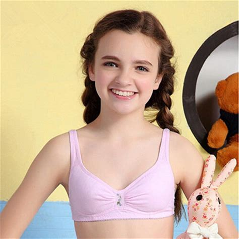 Hot Teen Girls Cotton Padded Bra Embroidered One Piece Training Bra Wire Free Ebay