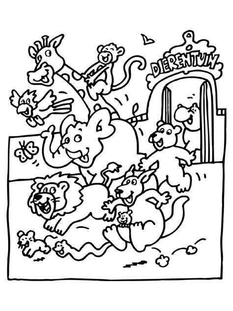 zoo animals coloring pages  coloring kids zoo