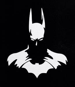 2 Batman Dark Knight Silhouette DC Comics 5quot Car Window