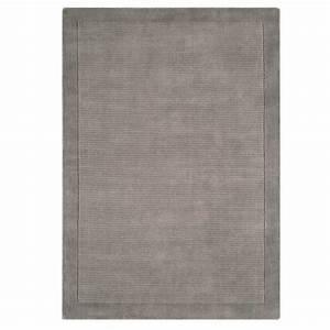tapis design gris clair en laine fait main en inde With tapis design gris