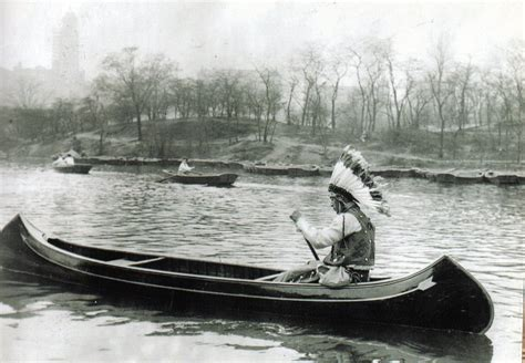 Canoes In Central Park by An Iroquois Indian Canoes In Central Park Ephemeral New York
