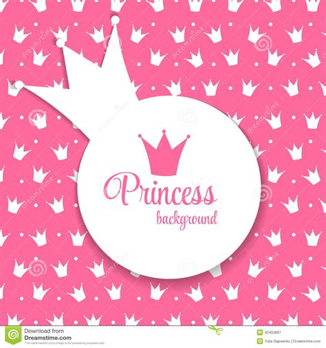 princess crown background vector illustration stock