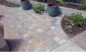 Adding Pavers To Concrete Patio Decorate Paver Patio Integrating Landscape Beds And Meeting A Concrete Slab