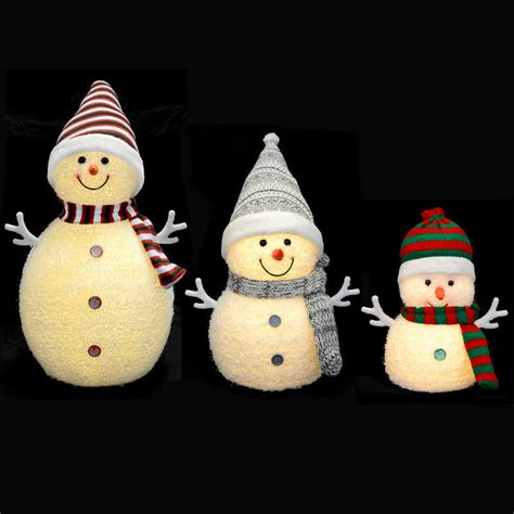 light up snowman light up snowman decoration with warm white leds