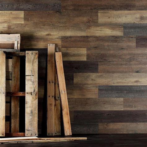 Wood Look Ceiling Planks by Pallet Wood Look Peel And Stick Wall Planks Wide Plank