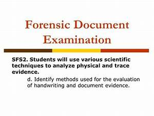 1 forensic science questioned documents 2 questioned With questioned document examination forensic