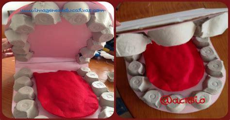 divertida maqueta fabricada con cartones de huevos para ense 241 ar higiene dental a nuestros alumn s
