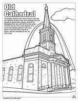 Coloring Cathedral Louis Saint Lesson Drawing Easy sketch template