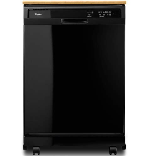 Whirlpool Black Portable Dishwasher   WDP340PAFB