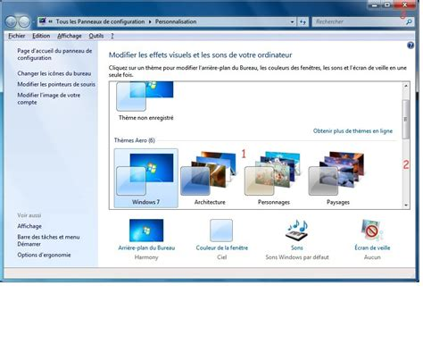 personnaliser bureau windows 7 module 2 le système d 39 exploitation windows 7 2 3 l