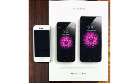 New Apple Print Ad Shows Actual Iphone 6 And Iphone 6 Plus