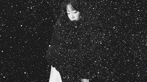 ho snow girl snsd taeyeon black bw kpop wallpaper