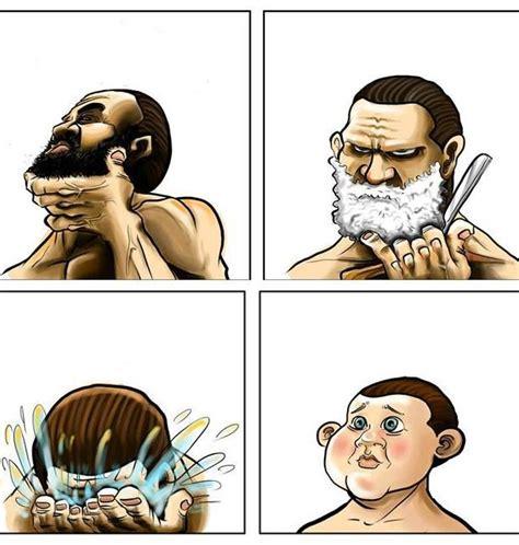 Shaved Beard Meme - beard shaving comic parodies know your meme