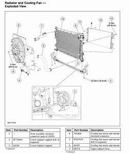 Cooling Fan Motor And Shroud  Accessory Drive Belt
