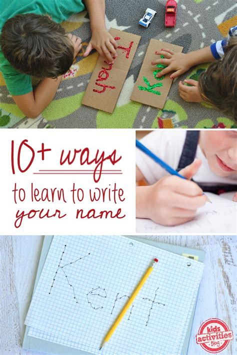 10 ways to practice writing your name activities 223 | 10 ways to learn to write your name