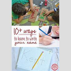 10 Ways To Practice Writing Your Name  Kids Activities