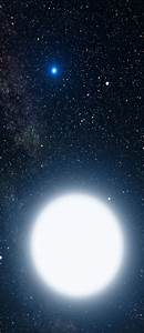 Sirius A and B.. Sirius B is a first discovered and ...