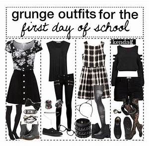 """""""grunge outfits for the first day of school // k e n d a l ..."""