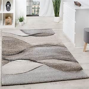 Teppich Grau Beige : webteppich wellen optik grau beige design teppiche ~ Indierocktalk.com Haus und Dekorationen