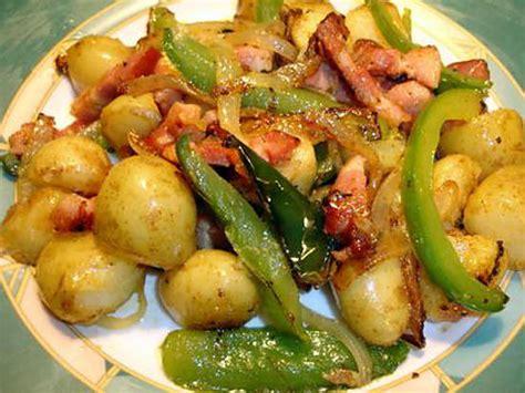 recette de pommes de terre nouvelle poivron lardons
