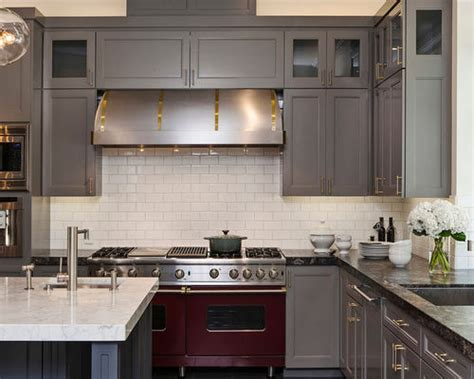 grey cabinets and counters home design ideas