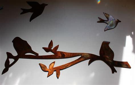 Round black branched metal wall decor, set of 3: Birds on a Limb 3 piece set Metal Wall Decor