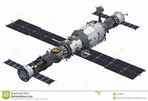 Spacecrafts And Space Station Stock Illustration - Image ...