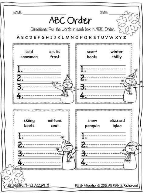 images  christmas abc order worksheets abc