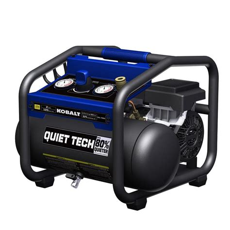 kobalt tech 2 gallon portable electric air compressor at lowes