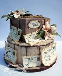 Picture Of beautiful travel themed wedding cakes 7