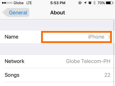 how to name my iphone how to change the name of your iphone