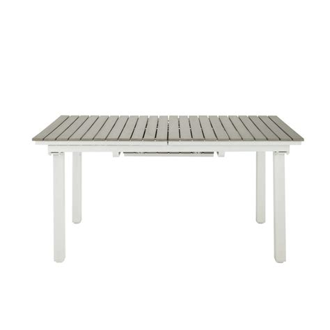 extending garden table in imitation wood composite and