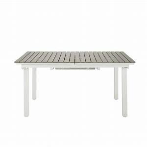 Table Jardin Composite : table rallonge de jardin en composite imitation bois et aluminium l 157 cm escale maisons du ~ Teatrodelosmanantiales.com Idées de Décoration