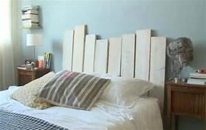 tete de lit fabrication maison With tete de lit parquet