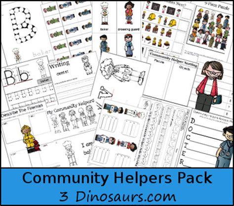 community helpers pack  dinosaurs