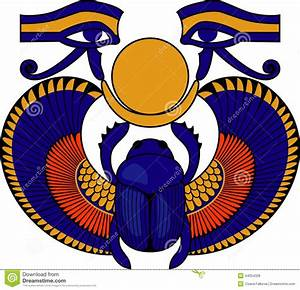 Egyptian clipart scarab beetle - Pencil and in color ...