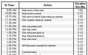 wedding ceremony booklet wedding day schedule