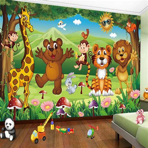 hd animal paradise cartoon childrens room photo wall