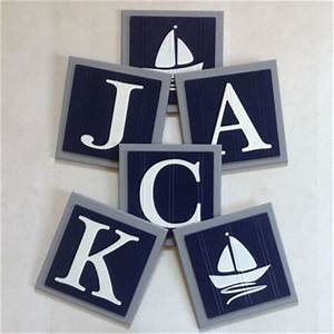best nautical letter name products on wanelo With navy blue letters for nursery