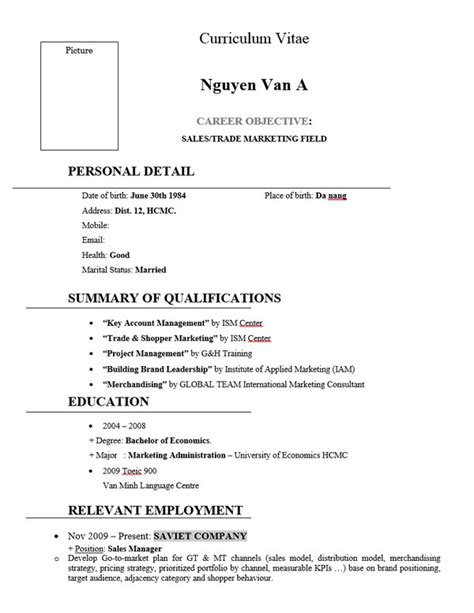 Trade Marketing Resume by 10 Marketing Resume Template Free Word Pdf Sles