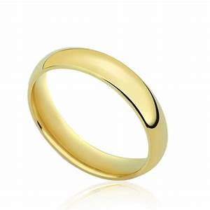 Double Accent 14K Yellow Gold 4mm Comfort Fit Classic