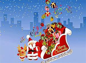 Merry Christmas Santa Claus Animation Wallpaper ...