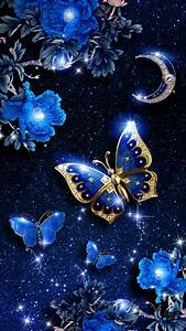 Elegant blue butterfly live wallpaper! Android live ...